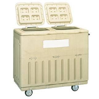 『 ゴミ箱 ゴミステーションボックス 』ポイスター POP-500X キャスター付【 メーカー直送/後払い決済不可 】