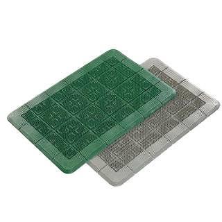 クロスハードマット 900×1500mm 緑 【 業務用 【 玄関入口用マット 】