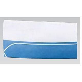 【まとめ買い10個セット品】クリーンキャップ Aタイプ 06024 ブルー・白ライン [50枚入] 【 コック帽子 衛生帽 】