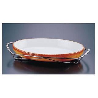 SAシャトレ 小判グラタンセット 11-3011-44B 【 業務用 【 チェーフィングディッシュ バイキング 皿 陶器 サラダバー フードバー 】