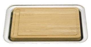 UK木製カッティングボード[18-8角盆付] 【 業務用 【 食器 トレイ トレー 盆 カービングボード 】