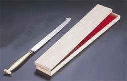 『 ウエディング用品 ウエディングケーキナイフ 』ウェディングケーキナイフ 剣型 [桐箱入]