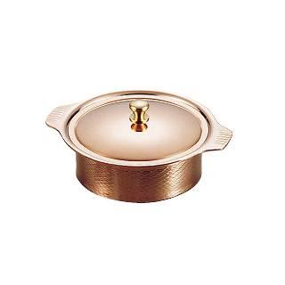 『 卓上鍋 キャセロール 』SW 銅丸型キャセロール 18cm