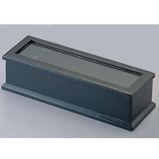 【まとめ買い10個セット品】 木製 箸箱 ブラック(楊枝入付) M40-905【 キッチン小物 箸箱 】