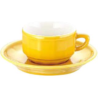 フローラ モカカップ&ソーサー[6客入] PTFL M FL イエロー 【 業務用 【 APILCO[アピルコ] 洋食器 】