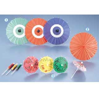 ミニ野立傘 B[100入] 中 朱 【 業務用 【 装飾用品 和食 懐石 】
