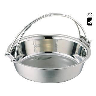 SW 電磁用ツル付チリ鍋 29cm[卓上鍋関連品] 【 料理宴会用 ちり鍋 】