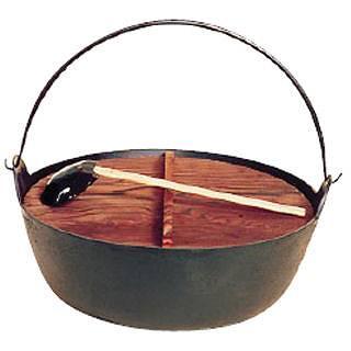 五進 ジャンボ田舎鍋[鉄製] 39cm[杓子付][卓上鍋関連品] 【 業務用 【 料理宴会用 田舎鍋 】