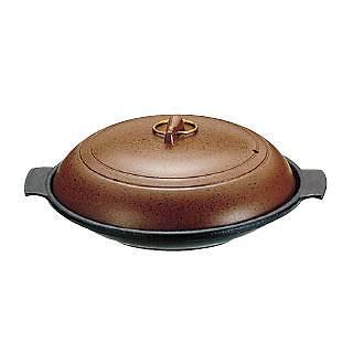 【まとめ買い10個セット品】SAやまと陶板鍋[アルミ製]18cm 深型[卓上鍋関連品] 【 料理宴会用 陶板鍋 】