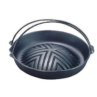 【まとめ買い10個セット品】岩鋳 焼肉ジンギスカン鍋 [ツル付] 23-006 29cm 【 ジンギスカン 鉄製 鉄鍋 料理演出用品 卓上鍋類 焼肉プレート 】 【 ジンギスカン 鍋 】