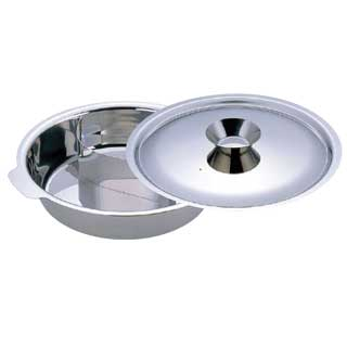 【 UKチリ鍋 [2仕切] 29cm[18-0・電磁対応] 【 電磁調理器対応 】