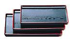 【まとめ買い10個セット品】地木目長手盆 黒天朱 尺6寸 1-62-6 【 メーカー直送/代引不可 】 【 食器 お盆 】