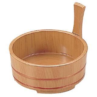 【まとめ買い10個セット品】6寸片手桶白木 45023120