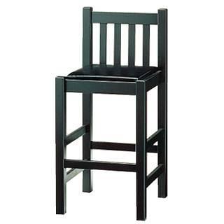 いす[背付]ブナ材 黒[座]黒レザー 9-129-12 【 メーカー直送/代金引換決済不可 】 【 業務用 【 家具 椅子 】