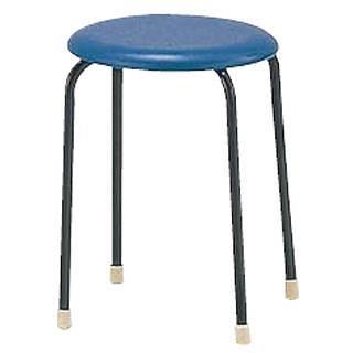 丸イス C-19[10脚入] ブルー 【 メーカー直送/代金引換決済不可 】 【 業務用 【 家具 椅子 洋風丸いす 】