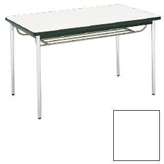 テーブル[棚付] MT2713[C]ホワイト[ミーティングテーブル] 【 メーカー直送/代金引換決済不可 】 【 業務用 【 家具 会議テーブル 長机 】