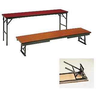【まとめ買い10個セット品】 座卓兼用テーブル(チーク柄) SZ16-TB【 家具 会議テーブル 長机 】