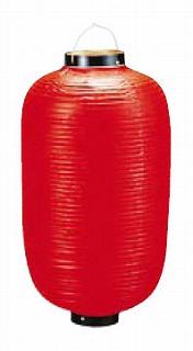 【まとめ買い10個セット品】 ビニール提灯長型 《9号》 赤ベタ b6