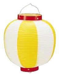 【まとめ買い10個セット品】 ビニール提灯丸型 《9号》 黄/白 b42