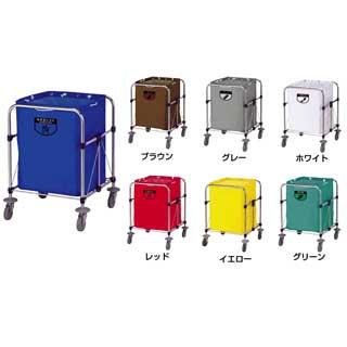 リサイクルカート Y-2 大 ブラウン 【 メーカー直送/代引不可 】 【 業務用 【 清掃用ワゴン ダストカー ダストボックス ゴミ箱 】