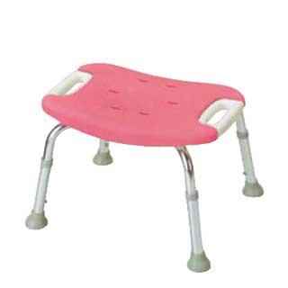 やわらかシャワーチェア ピンク 背なしワイド[介護用品] 【 店舗備品 介護用品 入浴用品 】