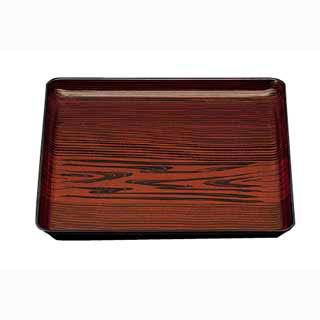 【まとめ買い10個セット品】角盆 漆木目 15006130 尺2寸