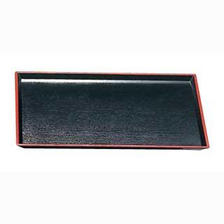 【まとめ買い10個セット品】清流長手木目盆 黒天朱SL 15235380 尺5寸