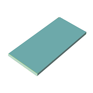 『 まな板 業務用1800mm 』瀬戸内 一枚物カラーまな板 ブルー K16B 1800×900×H30mm【 メーカー直送/代金引換決済不可 】