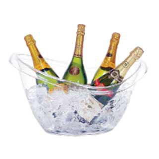 【まとめ買い10個セット品】 ブッフェタブ オーバル AB-19【 ワイン ボトルクーラー おしゃれ カクテル ワインクーラー カクテルクーラー アイスクーラー おすすめ ワイン 冷やす バケツ 入れ物 氷クーラー ワイン冷やす 道具 】