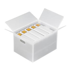 【まとめ買い10個セット品】ダンプラ DAN-A4WH 5枚 サンナップ【 梱包 作業用品 保存箱 コンテナ コンテナ 】