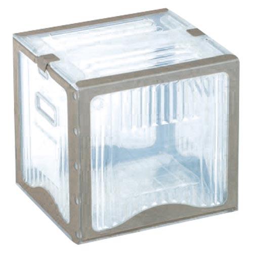 【まとめ買い10個セット品】リスボックス クリア リスボックス26B(C/GY) クリア/グレー 1個 岐阜プラスチック工業