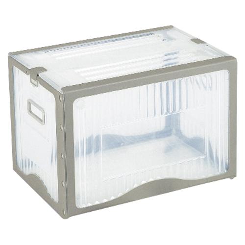 【まとめ買い10個セット品】リスボックス クリア リスボックス40BII(C/GY) クリア/グレー 1個 岐阜プラスチック工業