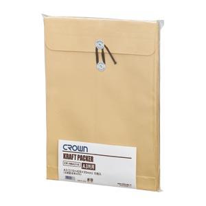 【まとめ買い10個セット品】クラウンクラフトパッカー 10枚入 CR-HBA310 10枚 クラウン【 事務用品 印章 封筒 郵便用品 留め具付き封筒 】