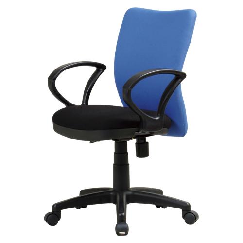 【まとめ買い10個セット品】オフィスチェア K-922 K-922(BL)+92AR ブルー 1脚 【メーカー直送/代金引換決済不可】【 オフィス家具 OAチェア イス 椅子 】