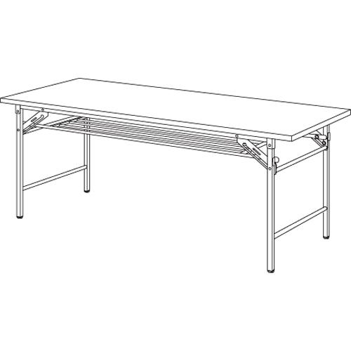 【まとめ買い10個セット品】折りたたみテーブル YKT-1890(TE) チーク 1台 【メーカー直送/代金引換決済不可】