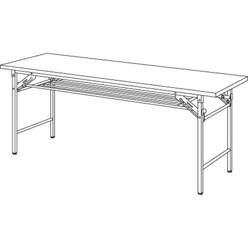 【まとめ買い10個セット品】折りたたみテーブル YKT-1860(IV) アイボリー 1台 【メーカー直送/代金引換決済不可】