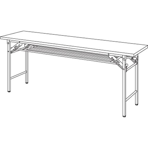 【まとめ買い10個セット品】折りたたみテーブル YKT-1845SE(TE) チーク 1台 【メーカー直送/代金引換決済不可】