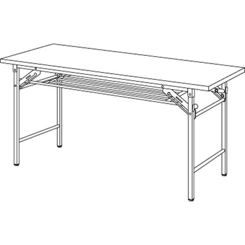 【まとめ買い10個セット品】折りたたみテーブル YKT-1260SE(TE) チーク 1台 【メーカー直送/代金引換決済不可】