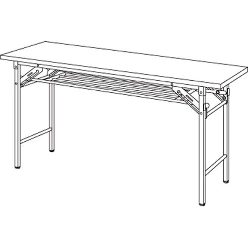 【まとめ買い10個セット品】折りたたみテーブル YKT-1245SE(TE) チーク 1台 【メーカー直送/代金引換決済不可】