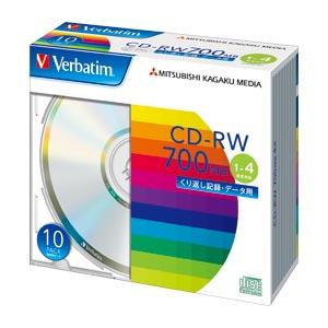 【まとめ買い10個セット品】PC DATA用 CD-RW パソコンデータ用書き換えタイプ 1-4倍速対応 SW80QU10V1 10枚 三菱化学メディア【 PC関連用品 メディア メディア収納 CD-RW 】