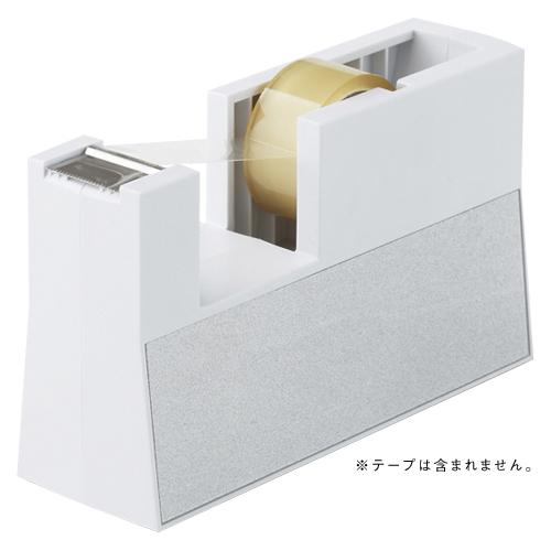【まとめ買い10個セット品】テープカッター 直線美[TM] 小巻用 TC-CBK5 白 1個 ニチバン【 事務用品 貼 切用品 テープカッター 】