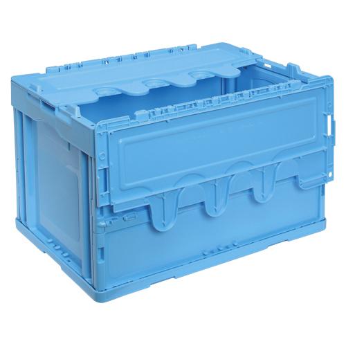 【まとめ買い10個セット品】折りたたみコンテナー フタ付き/青 CF-S51NR(ブルー) 1個 岐阜プラスチック工業