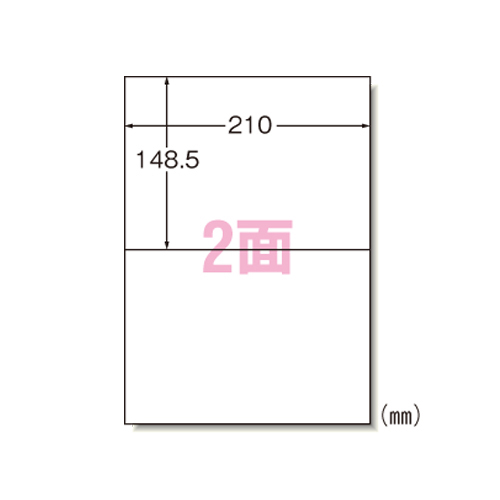 【まとめ買い10個セット品】 ラベルシール マット紙(A4判) 100枚入り レーザープリンタ用 66202