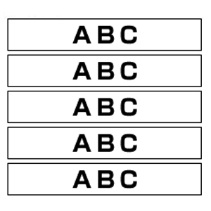 【まとめ買い10個セット品】ピータッチ用 テープカートリッジ HGeテープ ラミネートテープ 8m 5巻入 HGe-221V 白 黒文字 5巻(1巻8m) ブラザー