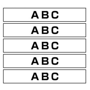 【まとめ買い10個セット品】ピータッチ用 テープカートリッジ HGeテープ ラミネートテープ 8m 5巻入 HGe-231V 白 黒文字 5巻(1巻8m) ブラザー