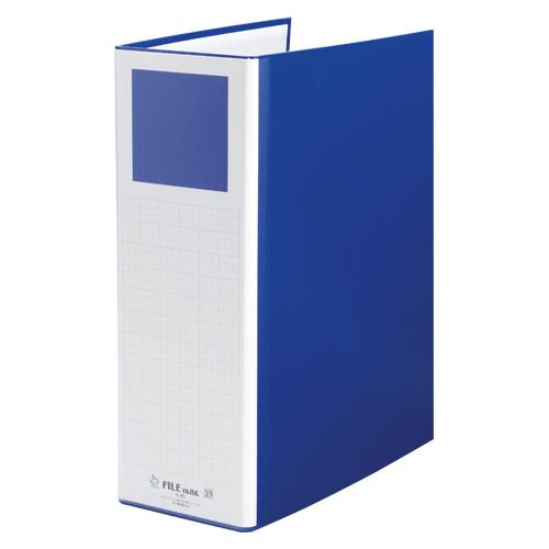 【まとめ買い10個セット品】間伐材シリーズ パイプファイル タテ型・両開き K-80B ブルー 1冊 ファイル【 ファイル ケース パンチ式ファイル パイプ式ファイル 】