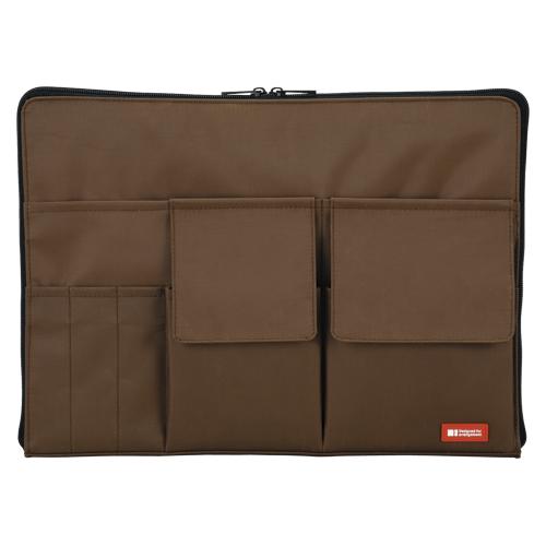 【まとめ買い10個セット品】バッグ イン バッグ A4サイズ A-7554-9 茶 1個 リヒトラブ【 ファイル ケース ケース バッグ インナーバッグ 】