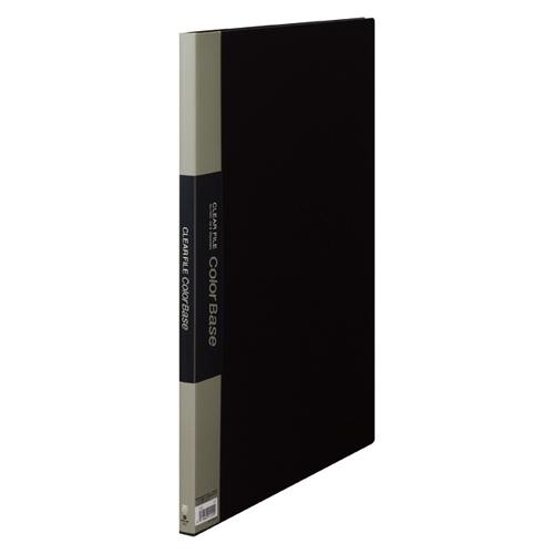 【まとめ買い10個セット品】 クリアーファイル カラーベース ポケット溶着式 A3判タテ型 20ポケット 152C 黒