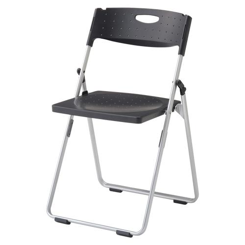 【まとめ買い10個セット品】スチール折りたたみ椅子 CAL-XSシリーズ(スチール/レギュラータイプ) CAL-XS01M-BK ブラック 1脚 アイリスチトセ 【メーカー直送/代金引換決済不可】