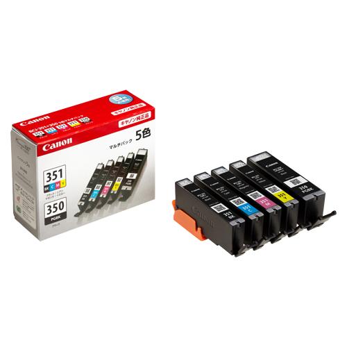 【まとめ買い10個セット品】インクジェットカートリッジ BCI-351+350/5MP 1セット キヤノン